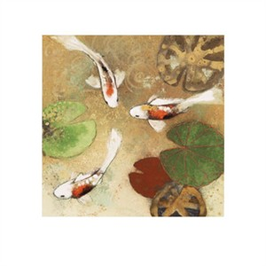 "Aleah Koury Signed and Numbered Limited Edition Giclée on Somerset Velvet Paper:""Koi Fest 1"""