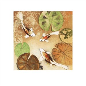 """Aleah Koury Signed and Numbered Limited Edition Giclée on Somerset Velvet Paper:""""Koi Fest 2"""""""