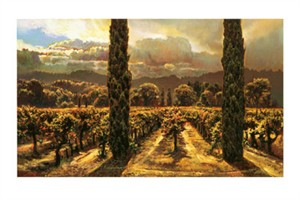 "Brooks Anderson Signed and Numbered Limited Edition Giclée on Somerset Velvet Paper:""Garden: 2 Cypress"""