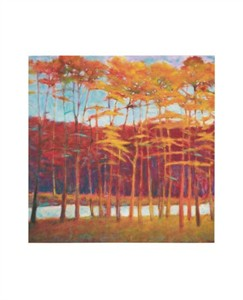 "Ken Elliott Signed and Numbered Limited Edition Giclée on Somerset Velvet Paper:""Red Trees at Creek"""