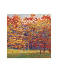 "Ken Elliott Signed and Numbered Limited Edition Giclée on Somerset Velvet Paper:""Autumn Stand"""