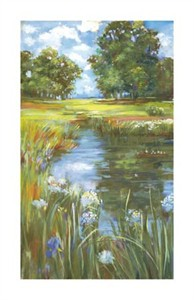 """Carol Rowan Signed and Numbered Limited Edition Giclée on Somerset Velvet Paper:""""Pond"""""""