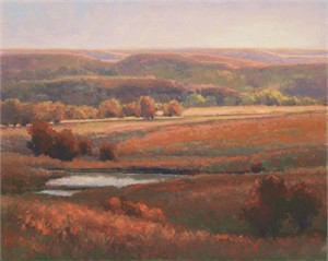 "Kim Casebeer Signed and Numbered Limited Edition Giclée on Somerset Paper:""Autumn Color in the Hills"""