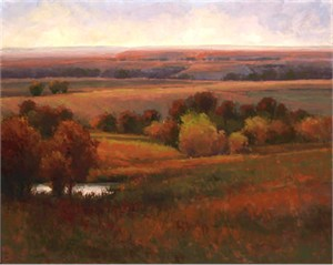 "Kim Casebeer Signed and Numbered Limited Edition Giclée on Somerset Paper:""Tree Grove in Autumn"""
