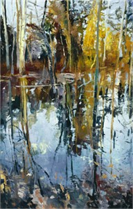 "Forrest Moses Signed and Numbered Limited Edition Giclée on Somerset Paper:""October Stream"""