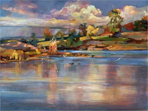 "Steve Memering Signed and Numbered Limited Edition Giclée on Brilliance Paper:""Fall River II"""
