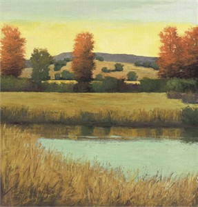 "David Skinner Signed and Numbered Limited Edition Giclée on Somerset Velvet Paper:""Creek View"""