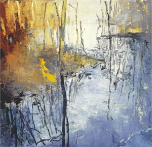 "Forrest Moses Signed and Numbered Limited Edition Giclée on Somerset Velvet Paper:""Still Water Pond Reflection"""
