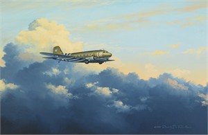 "David Poole Hand Signed and Numbered Limited Edition: ""D-Day Dakota"""