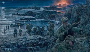 """James Dietz Handsigned and Numbered Limited Edition Artist Proof Print:""""Come In Fighting"""""""