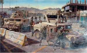 """James Dietz Handsigned and Numbered Limited Edition  Print:""""On Any Given Day"""""""