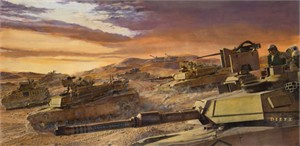 """James Dietz Hand Signed and Numbered Limited Edition Print:""""Desert Wolves"""""""