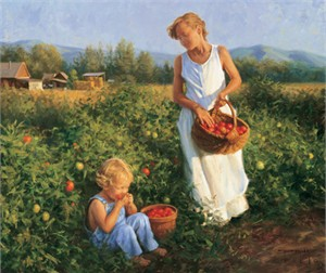 "Robert Duncan Hand Signed and Numbered Limited Edition Canvas Giclee:""Ripe Tomatoes"""