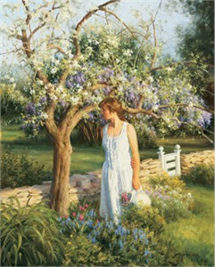 """Robert Duncan Hand Signed and Numbered Limited Edition Canvas Giclee:""""Spring Tapestry"""""""