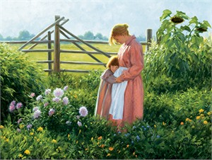 "Robert Duncan Hand Signed and Numbered Limited Edition Canvas Giclee:""Maggie and Her Mother"""