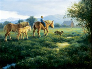 """Robert Duncan Hand Signed and Numbered Limited Edition Canvas Giclee:""""Almost Home"""""""