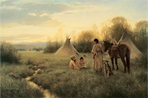 """Robert Duncan Hand Signed and Numbered Limited Edition Canvas Giclee:""""Day's End"""""""