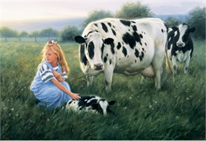 """Robert Duncan Hand Signed and Numbered Limited Edition Canvas Giclee:""""The First Morning"""""""