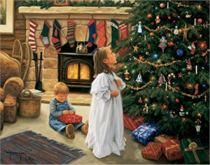 "Robert Duncan Hand Signed and Numbered Limited Edition Canvas Giclee:""O' Christmas Tree"""
