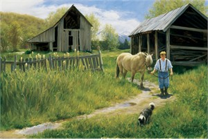 """Robert Duncan Hand Signed and Numbered Limited Edition Canvas Giclee:""""To Spring Pastures"""""""