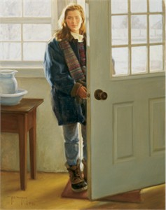 """Robert Duncan Hand Signed and Numbered Limited Edition Canvas Giclee:""""At the Back Door"""""""