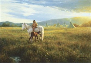 """Robert Duncan Hand Signed and Numbered Limited Edition Canvas Giclee:""""Her Favorite"""""""