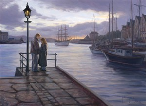 """Robert Duncan Hand Signed and Numbered Limited Edition Canvas Giclee:""""Lovers"""""""