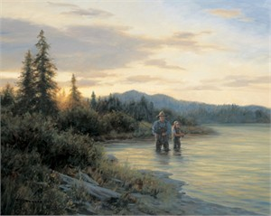 "Robert Duncan Hand Signed and Numbered Limited Edition Canvas Giclee:""The River Lessons"""