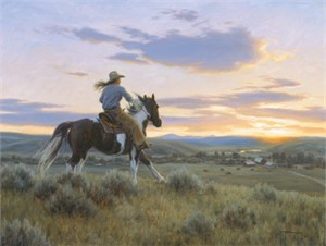 "Robert Duncan Hand Signed and Numbered Limited Edition Canvas Giclee:""Running Home"""
