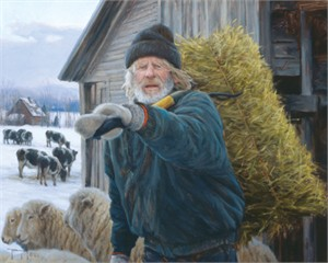 """Robert Duncan Hand Signed and Numbered Limited Edition Canvas Giclee:""""The Face of New England"""""""