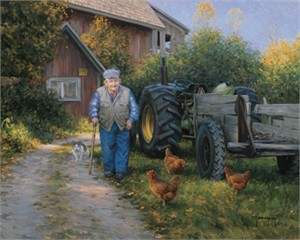 "Robert Duncan Hand Signed and Numbered Limited Edition Canvas Giclee:""Mr. Churchill's Farm"""