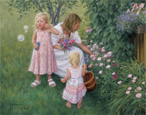 "Robert Duncan Hand Signed and Numbered Limited Edition Canvas Giclee:""Simple Things"""