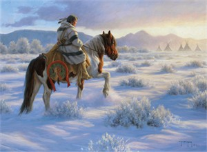 """Robert Duncan Hand Signed and Numbered Limited Edition Canvas Giclee:""""Homeward"""""""