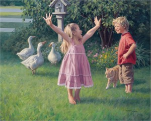 """Robert Duncan Hand Signed and Numbered Limited Edition Canvas Giclee:""""Life's a Dance"""""""