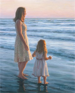 "Robert Duncan Hand Signed and Numbered Limited Edition Canvas Giclee:""Serenity"""