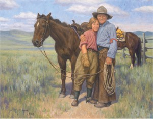 "Robert Duncan Hand Signed and Numbered Limited Edition Canvas Giclee:""Love on the Range"""