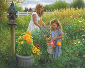 "Robert Duncan Hand Signed and Numbered Limited Edition Canvas Giclee:""The Colors of Summer"""