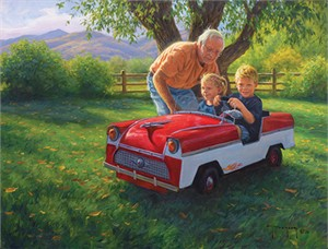 "Robert Duncan Hand Signed and Numbered Limited Edition Canvas Giclee:""Roger's Car"""