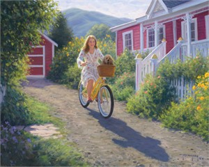 """Robert Duncan Hand Signed and Numbered Limited Edition Canvas Giclee:""""Out for a Ride"""""""