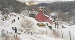 """Robert Duncan Hand Signed and Numbered Limited Edition Canvas Giclee:""""December in the Country"""""""