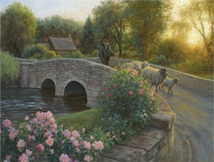 "Robert Duncan Hand Signed and Numbered Limited Edition Canvas Giclee:""The Wanderers Come Home"""