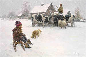 """Robert Duncan Hand Signed and Numbered Limited Edition Canvas Giclee:""""Chores First"""""""