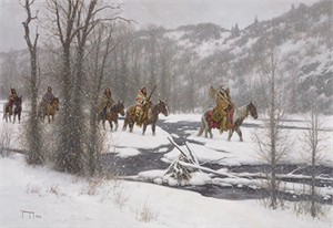 "Robert Duncan Hand Signed and Numbered Limited Edition Canvas Giclee:""Winter's Arrival"""