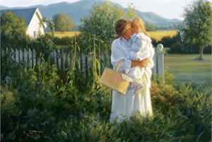 "Robert Duncan Hand Signed and Numbered Limited Edition Canvas Giclee:""A Morning Hug"""