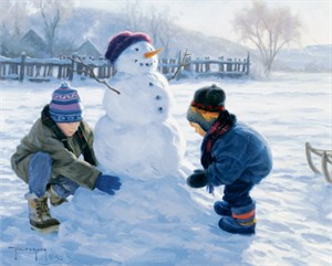 """Robert Duncan Hand Signed and Numbered Limited Edition Canvas Giclee:""""Winter Monument"""""""
