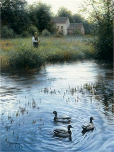 "Robert Duncan Hand Signed and Numbered Limited Edition Canvas Giclee:""Peaceful Evening"""