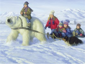 """Robert Duncan Hand Signed and Numbered Limited Edition Canvas Giclee:""""Visitor from Up North"""""""