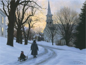 "Robert Duncan Hand Signed and Numbered Limited Edition Canvas Giclee:""Winter's Eve"""