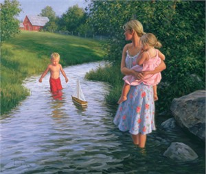 """Robert Duncan Hand Signed and Numbered Limited Edition Canvas Giclee:""""Let's Sail Away"""""""