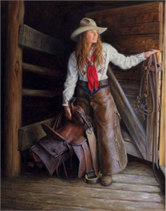 """Robert Duncan Hand Signed and Numbered Limited Edition Canvas Giclee:""""Wyoming Girl"""""""